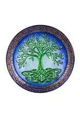 """18"""" Tree of Life Glass Birdbath"""