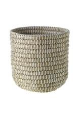 "Tejida Basket White 8.5""x 8.75"""