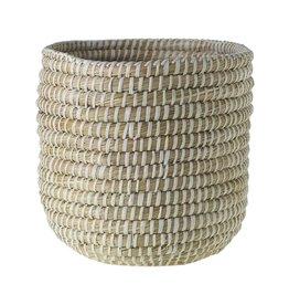 "Tejida Basket  White 10""x 9.75"""