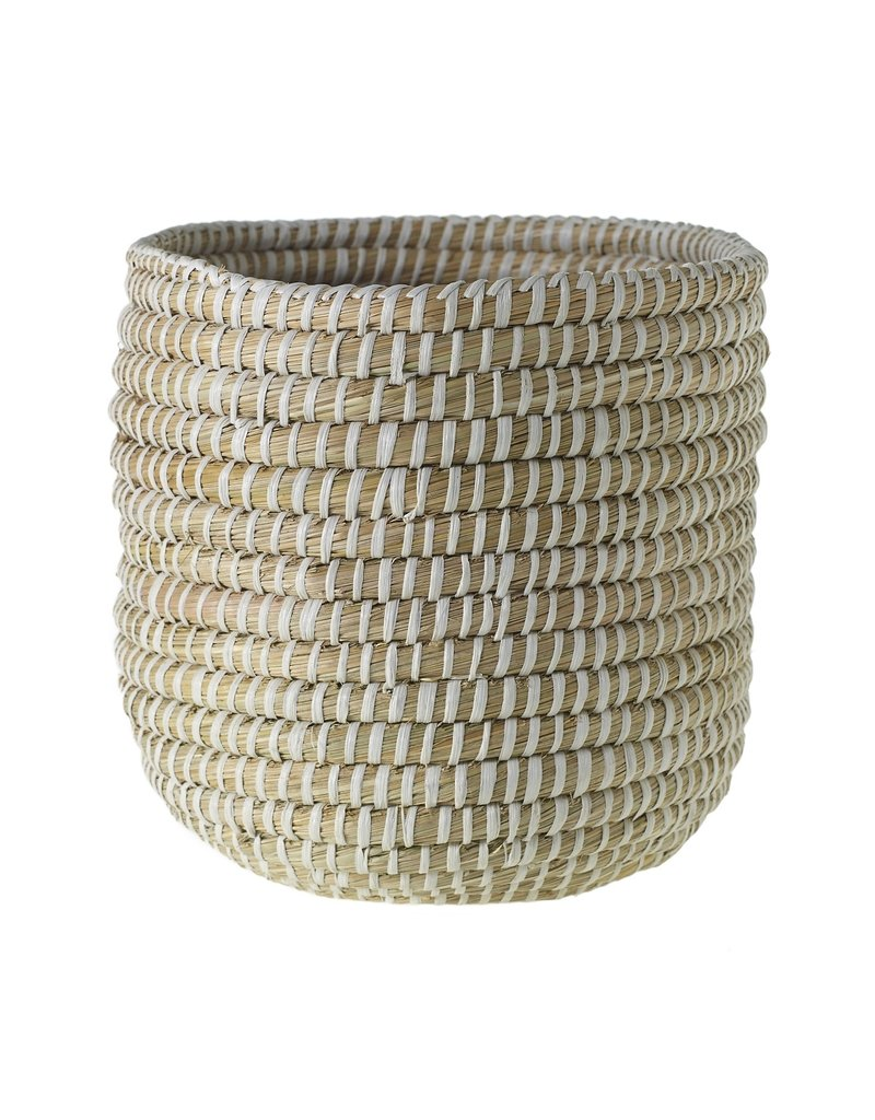 "Tejida Basket  White 10""x 9.75"""