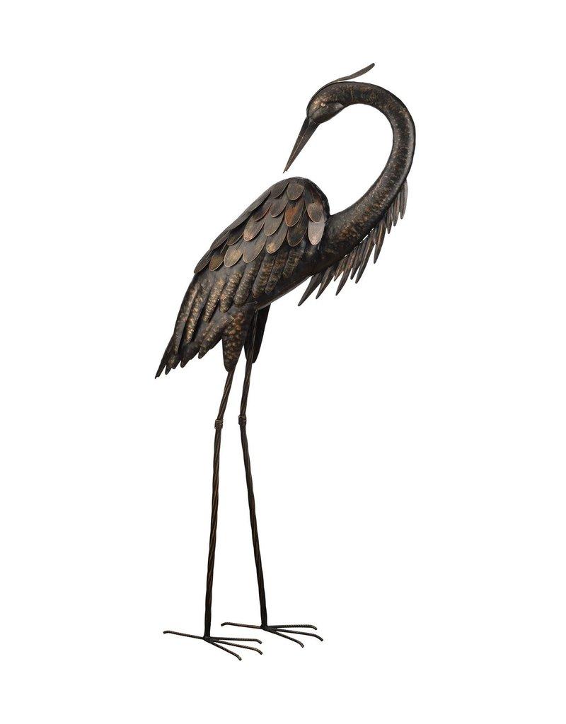 """Bronze Heron 43"""" - Preening"""