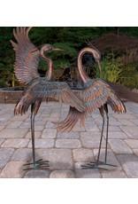 "Copper Patina Heron 44""- Preening"