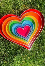 Rainbow 7 Hearts with 3 Heart Spoons 100778-RBW