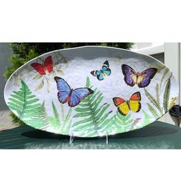 Papillon Melamine Oval Platter
