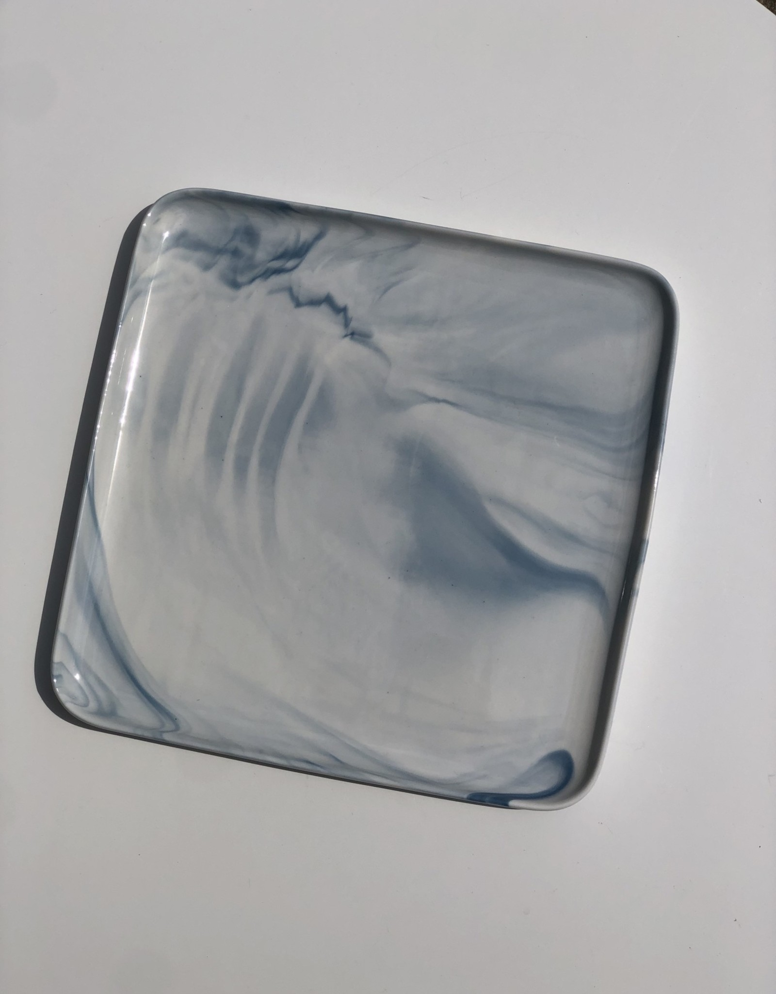 "Marble 8"" Blue Plate CC892"