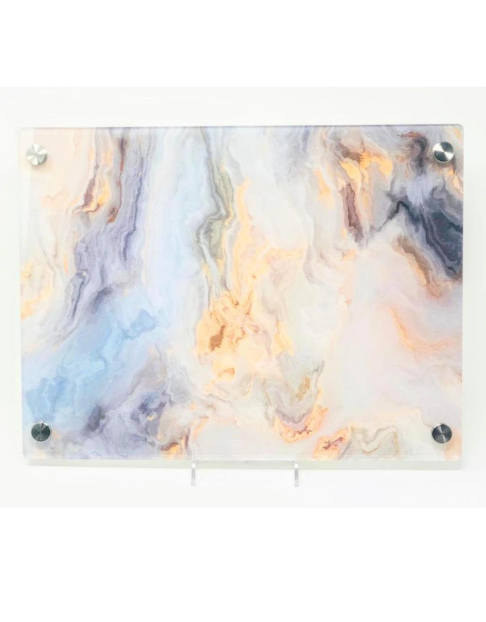 Modern Acrylic  Peach Grey Marble Board