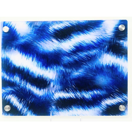Modern Acrylic Blue Fur Board