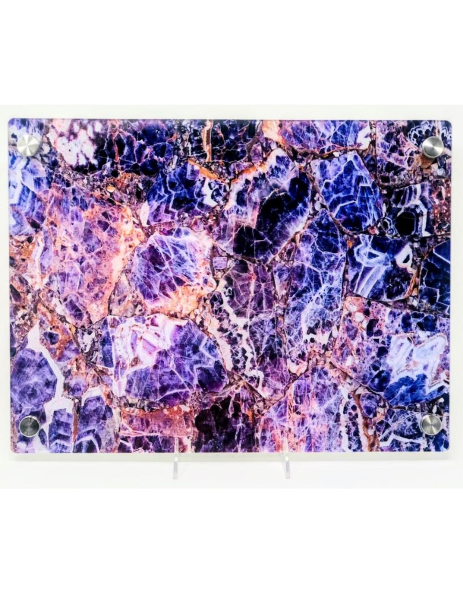 Modern Acrylic Purple Amethyst Board