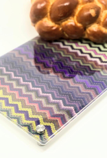 Modern Acrylic Tray Purple Zig-Zag