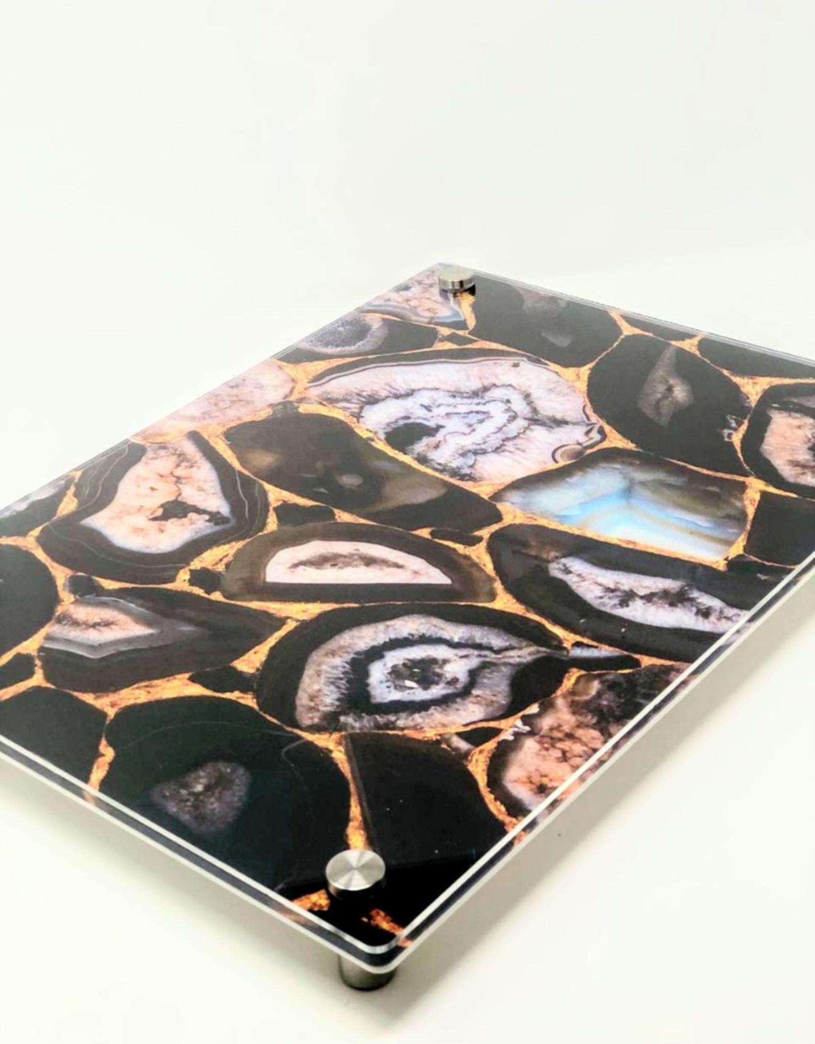 Modern Acrylic Black Agate Board