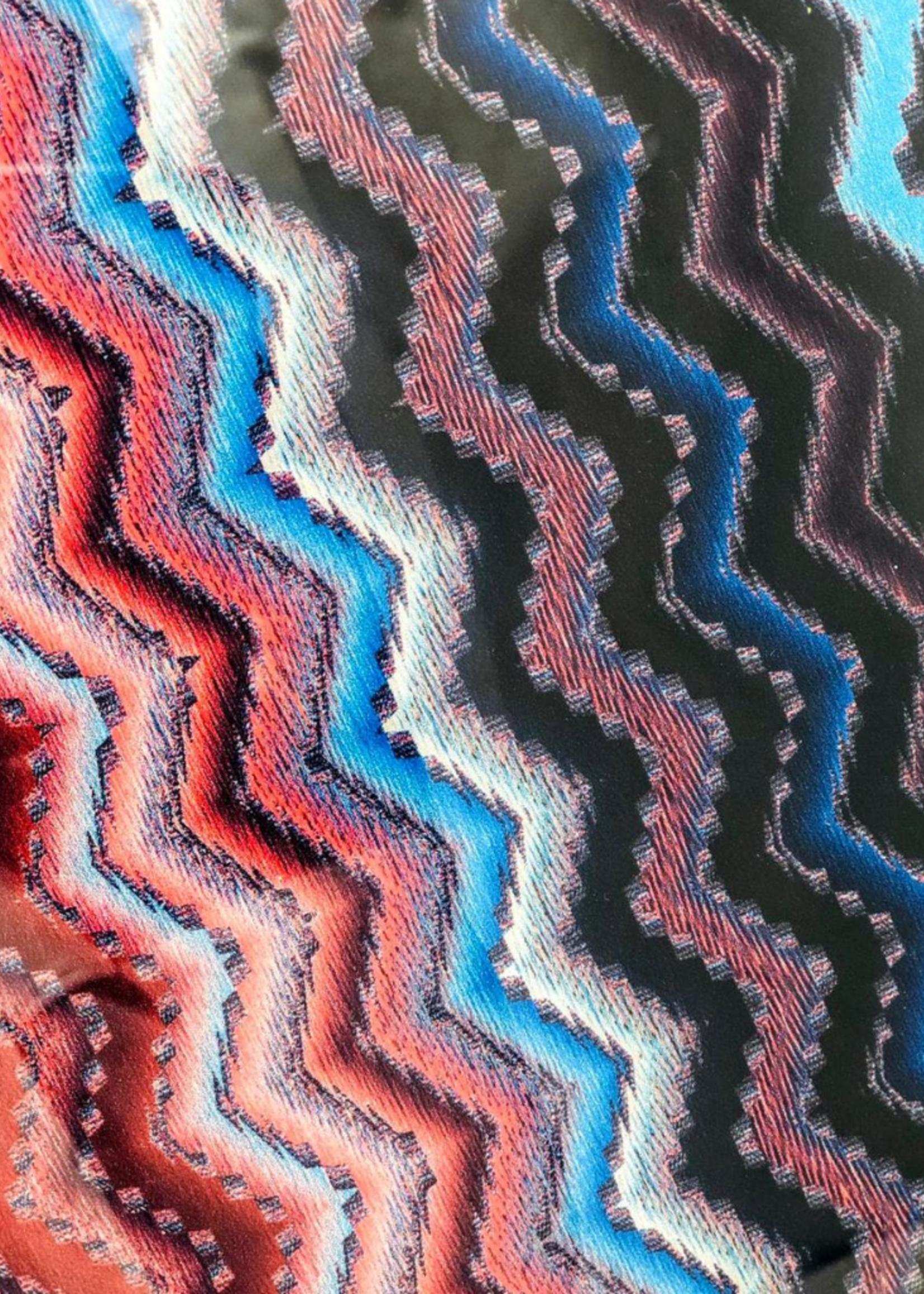 Modern Acrylic Tray Blue & Red Zig-Zag
