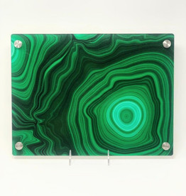 Modern Acrylic Green Malachite Board