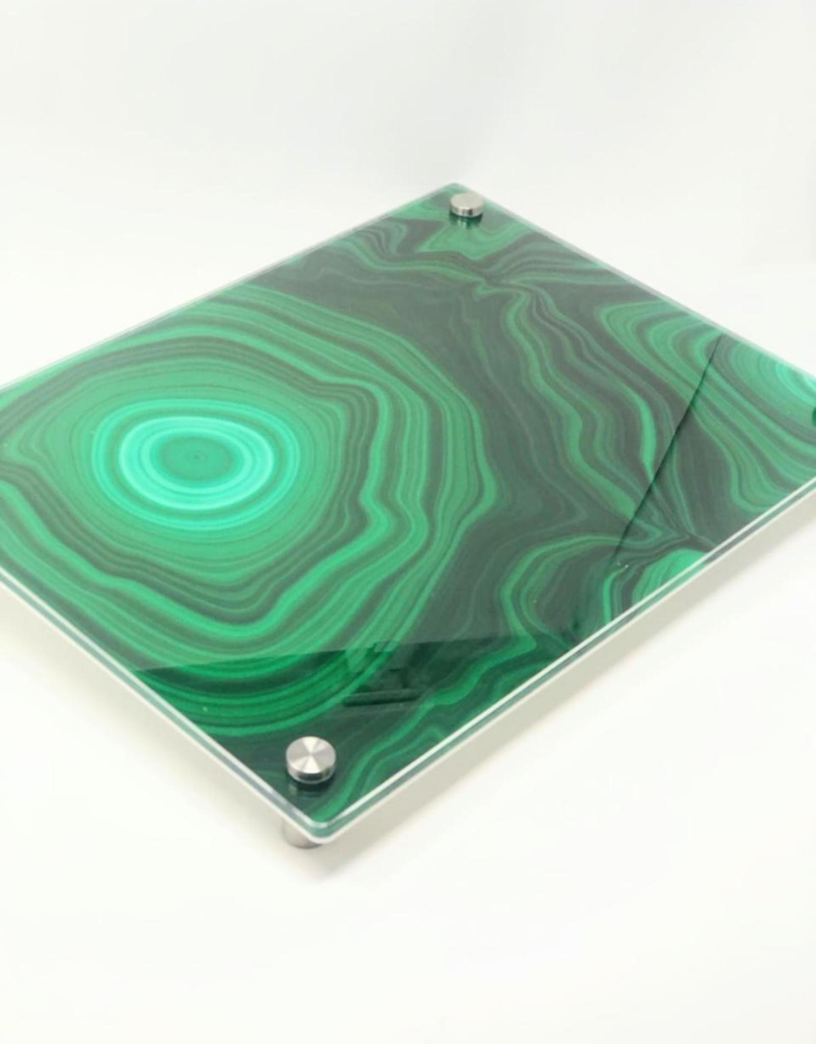Modern Acrylic Green Malachite Board