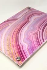 Modern Acrylic Shades of Pink Board