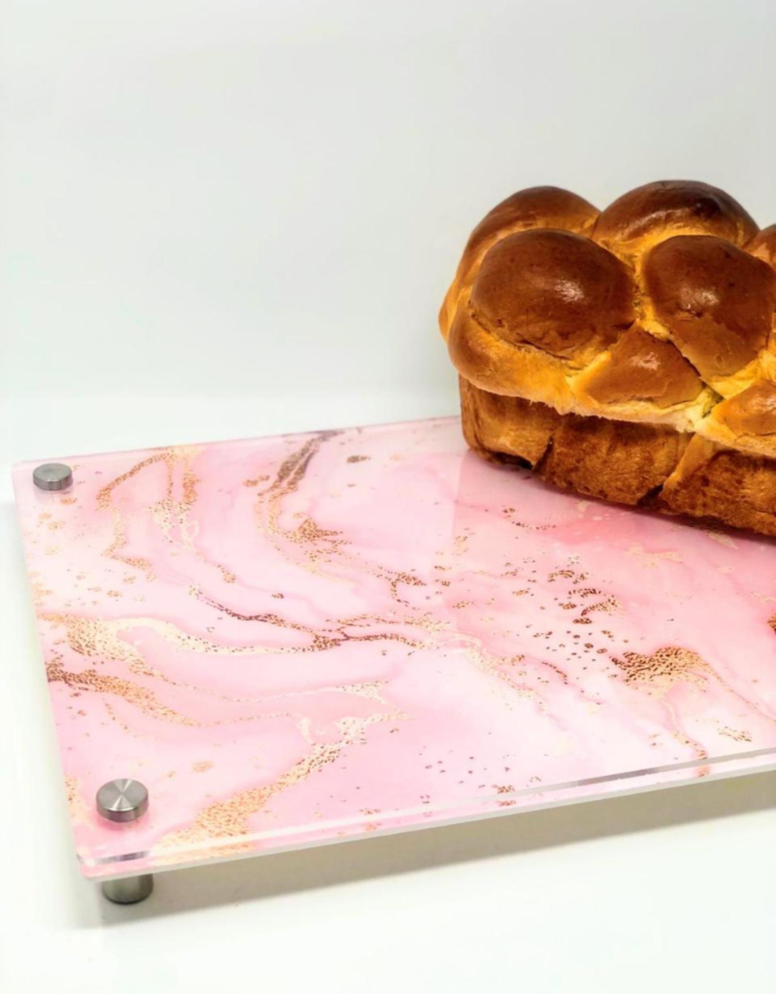 Modern Acrylic Blush & Gold Flex Board