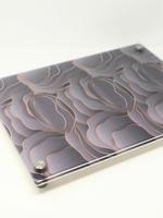 Modern Acrylic Grey Wavy Circles Board