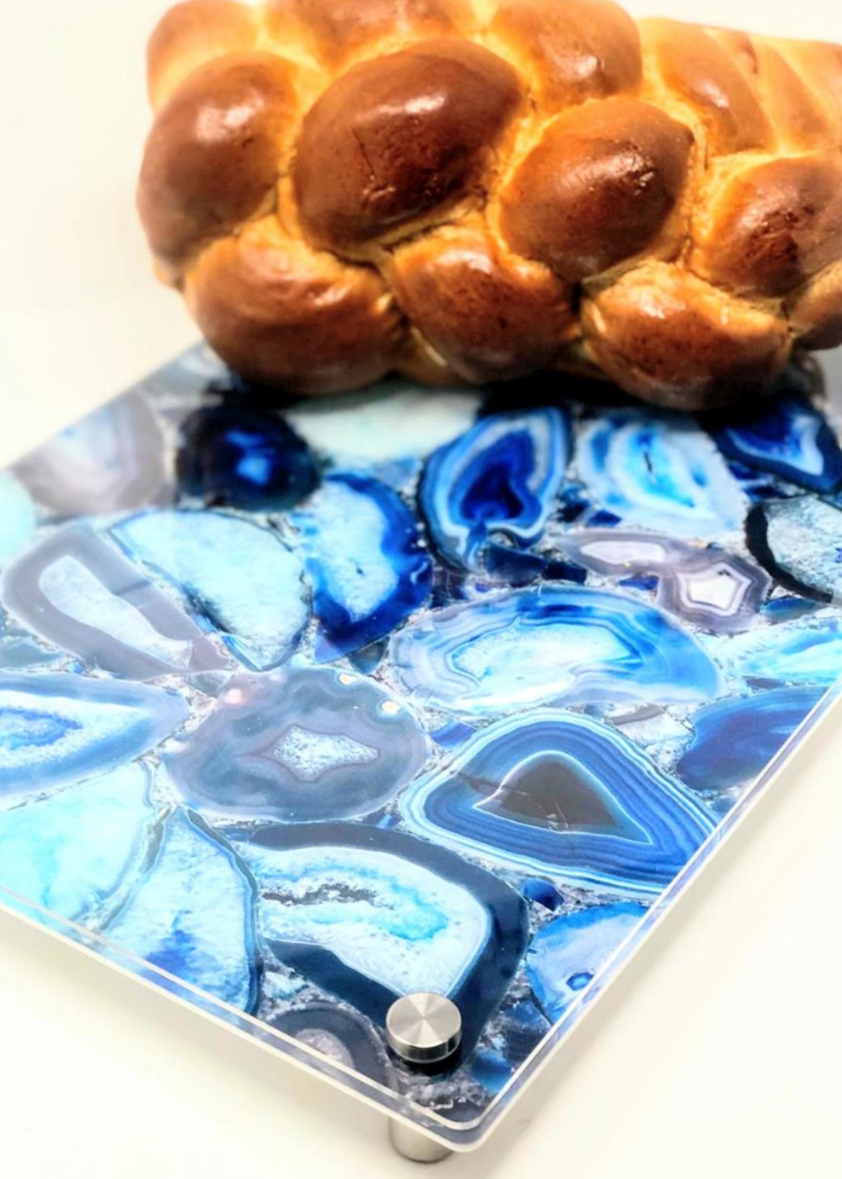 Modern Acrylic Blue Agate Board