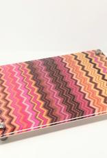 Modern Acrylic  Pink Zig-Zag Board