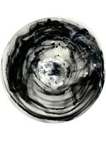 Black Swirl Medium Bowl With Servers