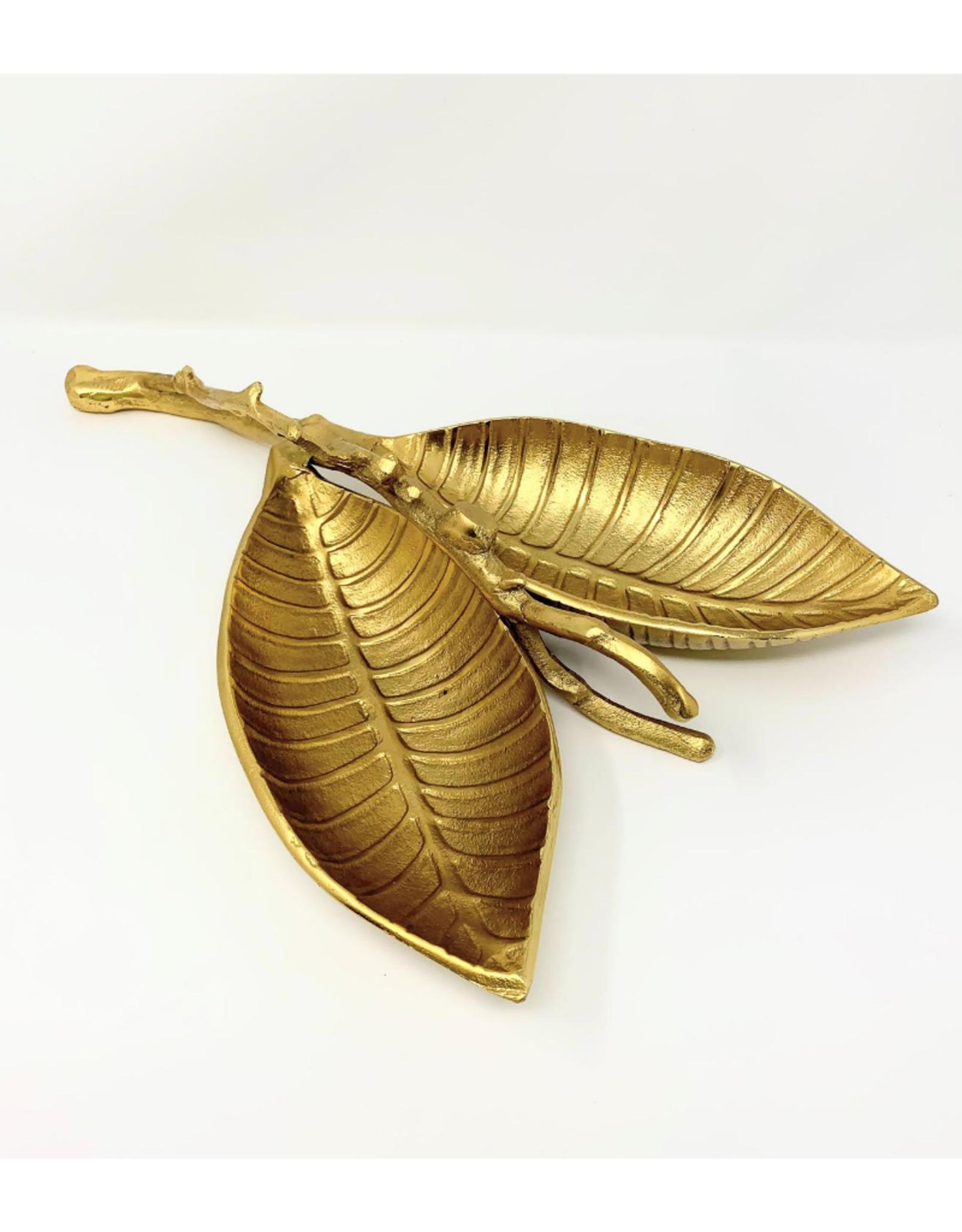 Gold Sweet Birch Leaf Dish