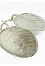 Nickel Leaf Two Tiered Serving Platter