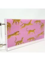 Assorted Cheetah Print Acrylic Tray