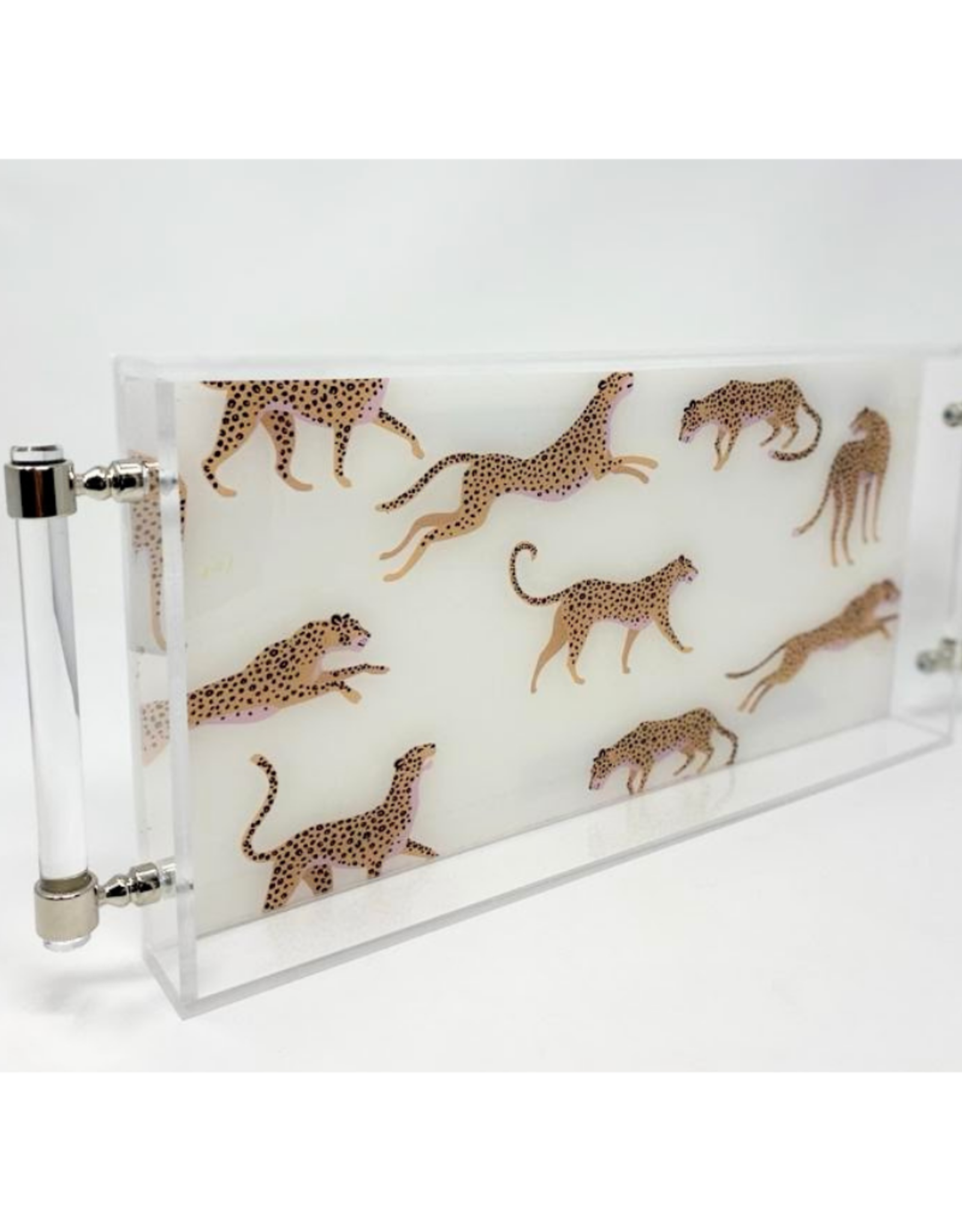 Assorted Cheetah Print Acrylic Tray