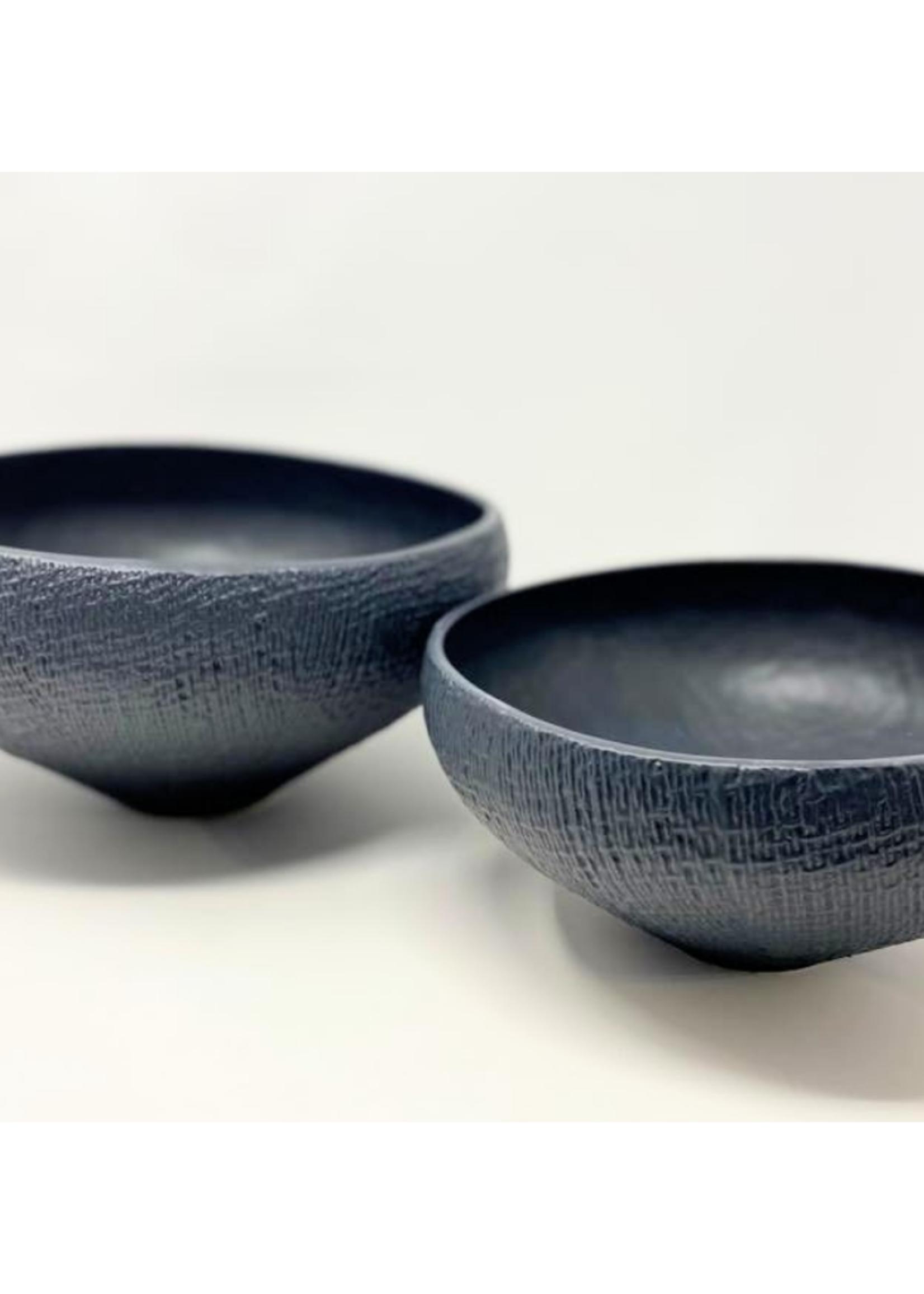 Mara Sand Organic Ceramic Black Bowl Small