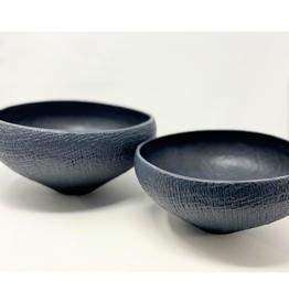 Mara Sand Ceramic Large Black Bowl