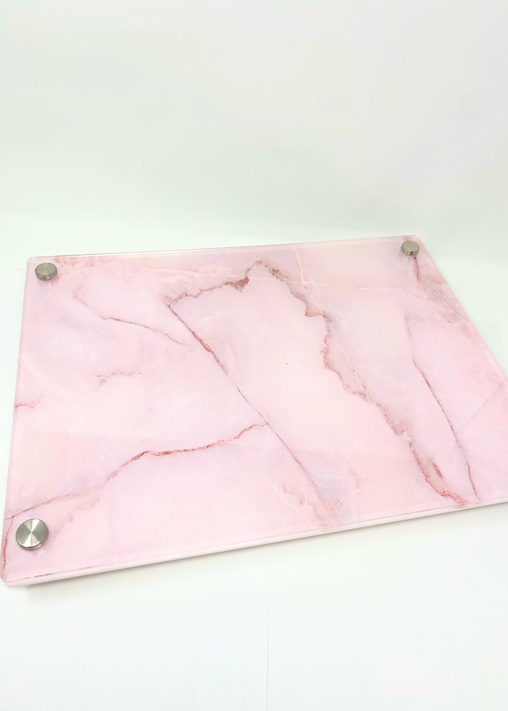 Modern Acrylic Pink Marble Board