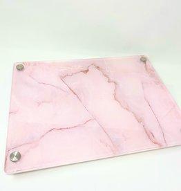 Modern Acrylic Rose Quartz Board