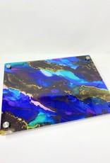 Modern Acrylic Purple/Blue Tones Stained Glass Board