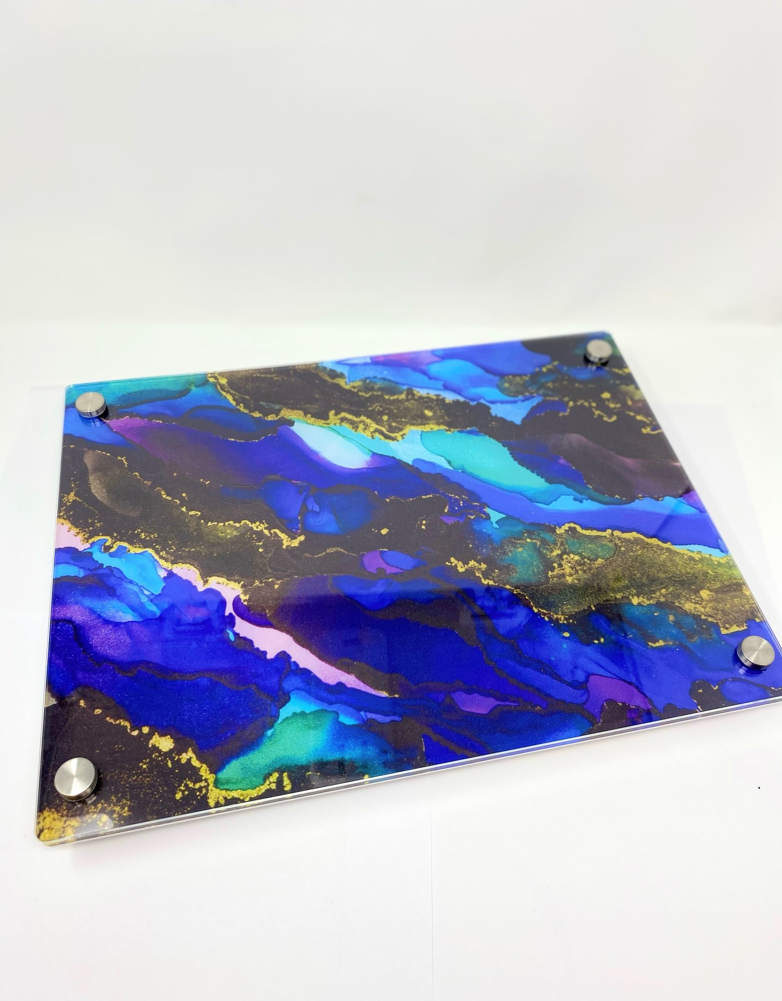 Modern Acrylic Purple/Blue Tones Stained Glass Board