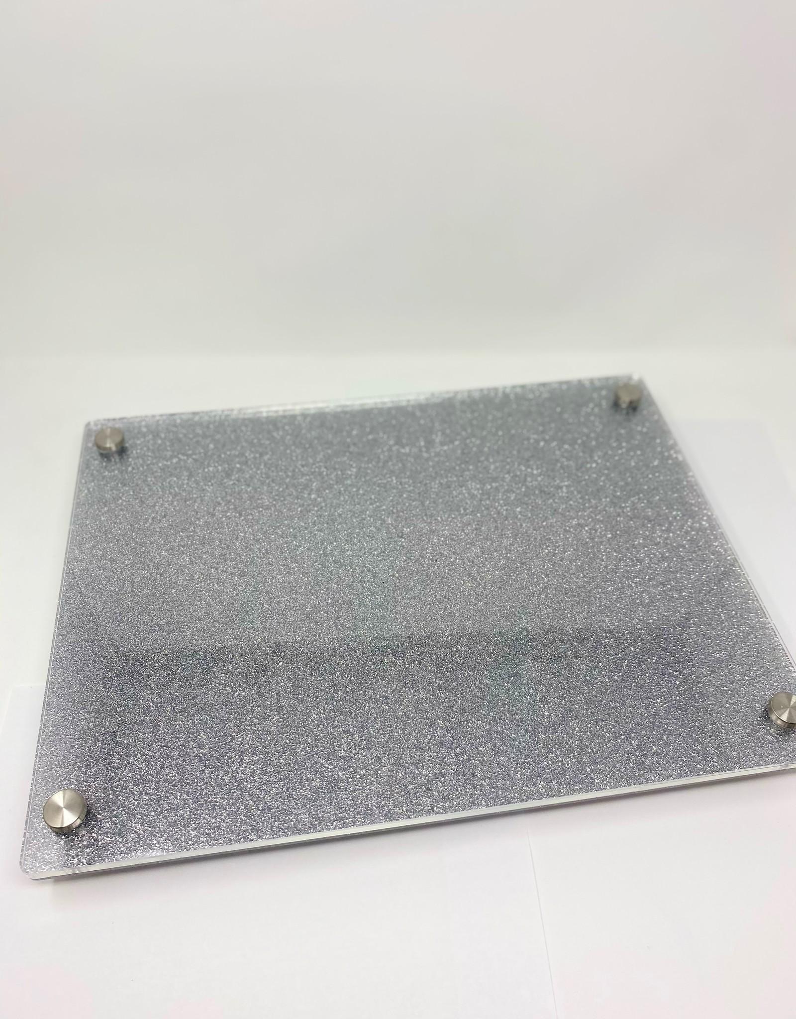 Modern Acrylic Silver Glitter Board