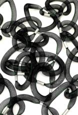 Linked Tube Necklace Black