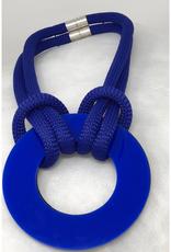 Reversible Resin Necklace Cobalt & Black