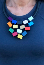 Colorful Cube Pyramid Necklace