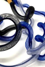 CHRISTINA BRAMPTI Color Block Woven Tulle Necklace