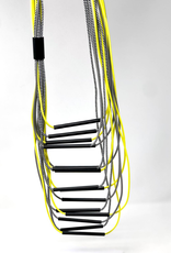 CHRISTINA BRAMPTI Long Neon Multi Strand Necklace with Aluminum Tubes