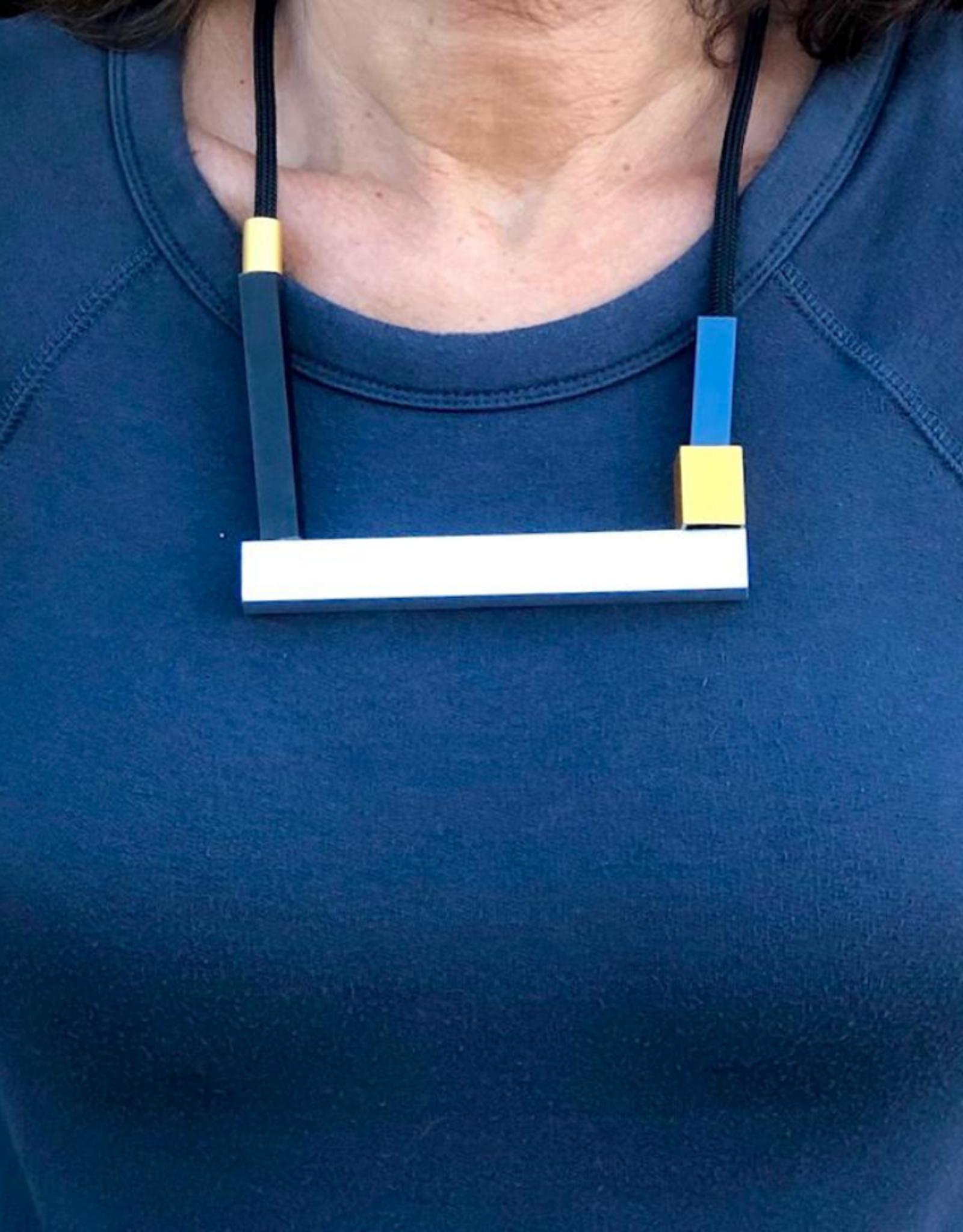 CHRISTINA BRAMPTI Tetris Color Block Aluminum Necklace