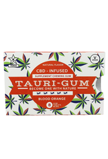 Tauri Gum CBD Infused Supplement Blood Orange Flavor