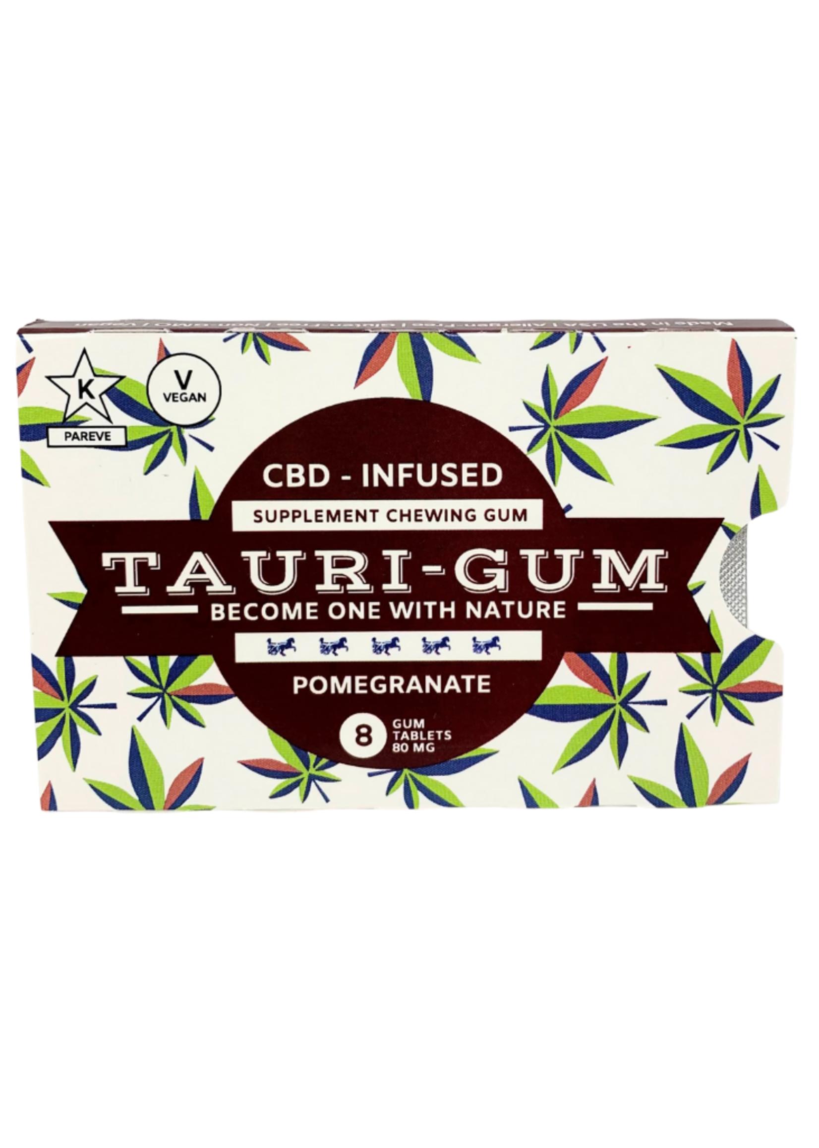 Tauri Gum CBD Infused Supplement Pomegranate Flavor