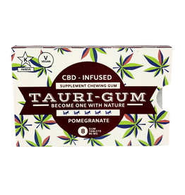 Tauri Gum CBD Infused Supplement Pomegranate Flavor