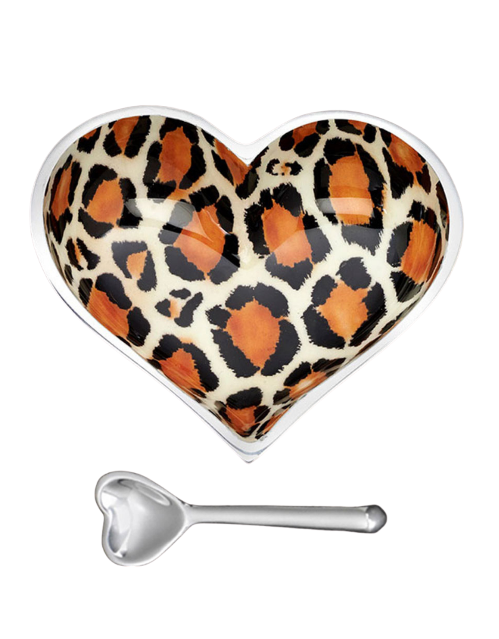 Leopard  Heart Bowl & Spoon