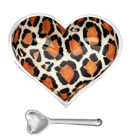 Leopard  Heart Bowl & Spoon