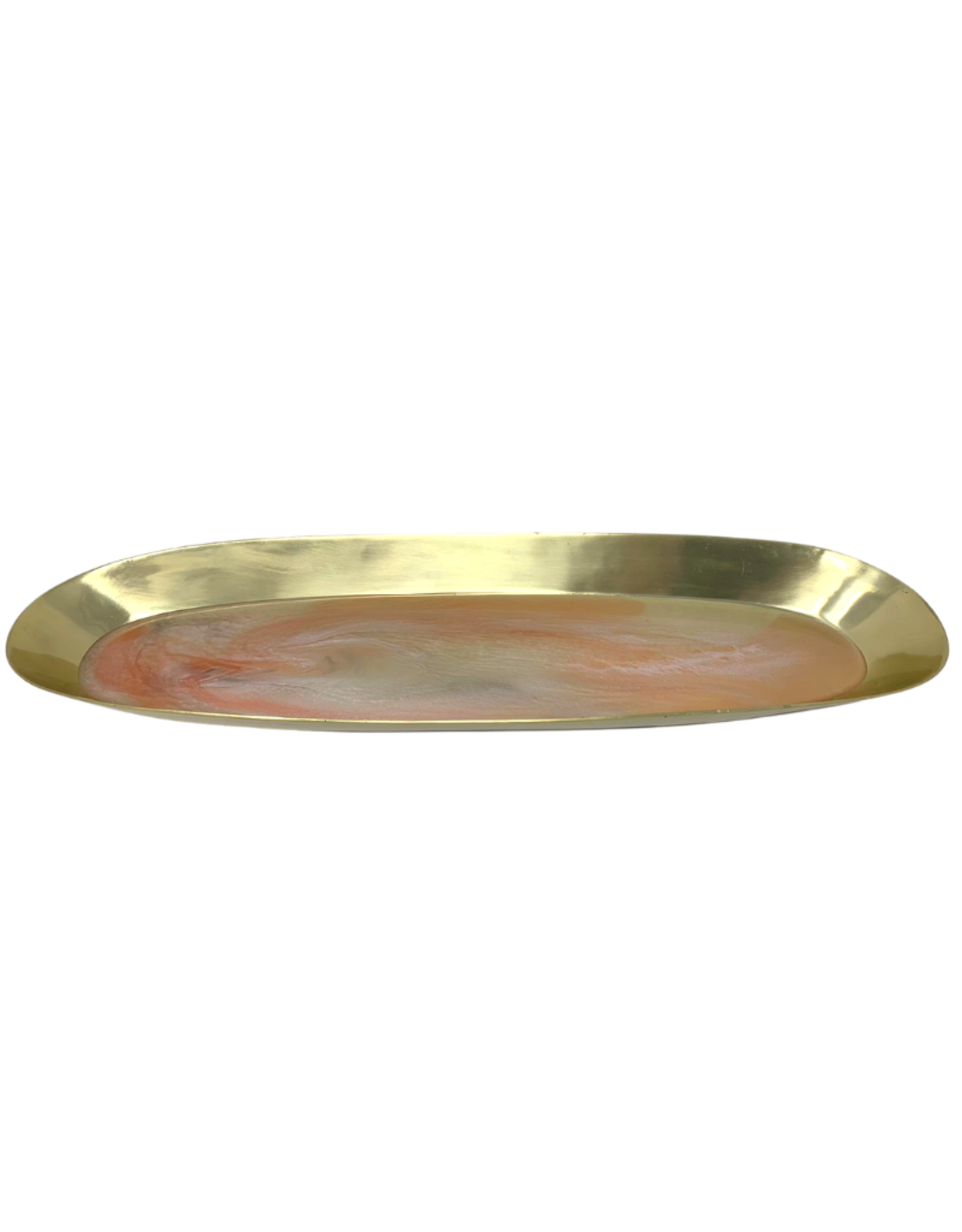 Gold Oval Resin Tray - Assorted Colors