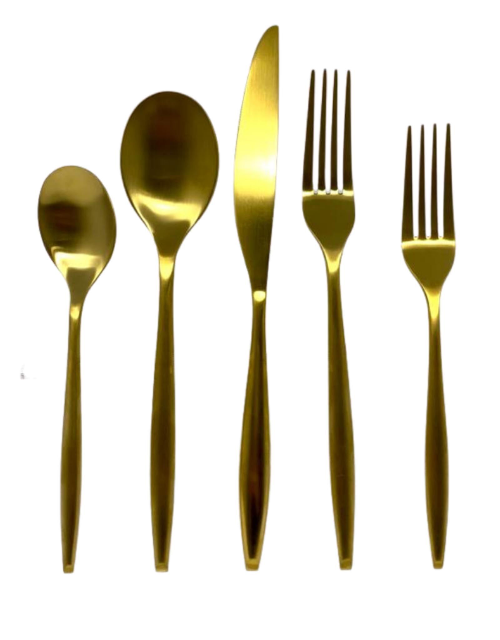 Milano Matte Gold 20 Piece Flatware Set