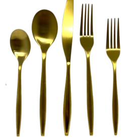 Milano Matte Gold 20 Piece Flatware Set