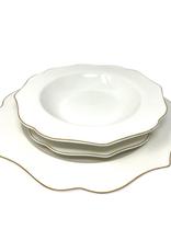 Arrendale New Bone Gold 12 Piece Dinnerware Set