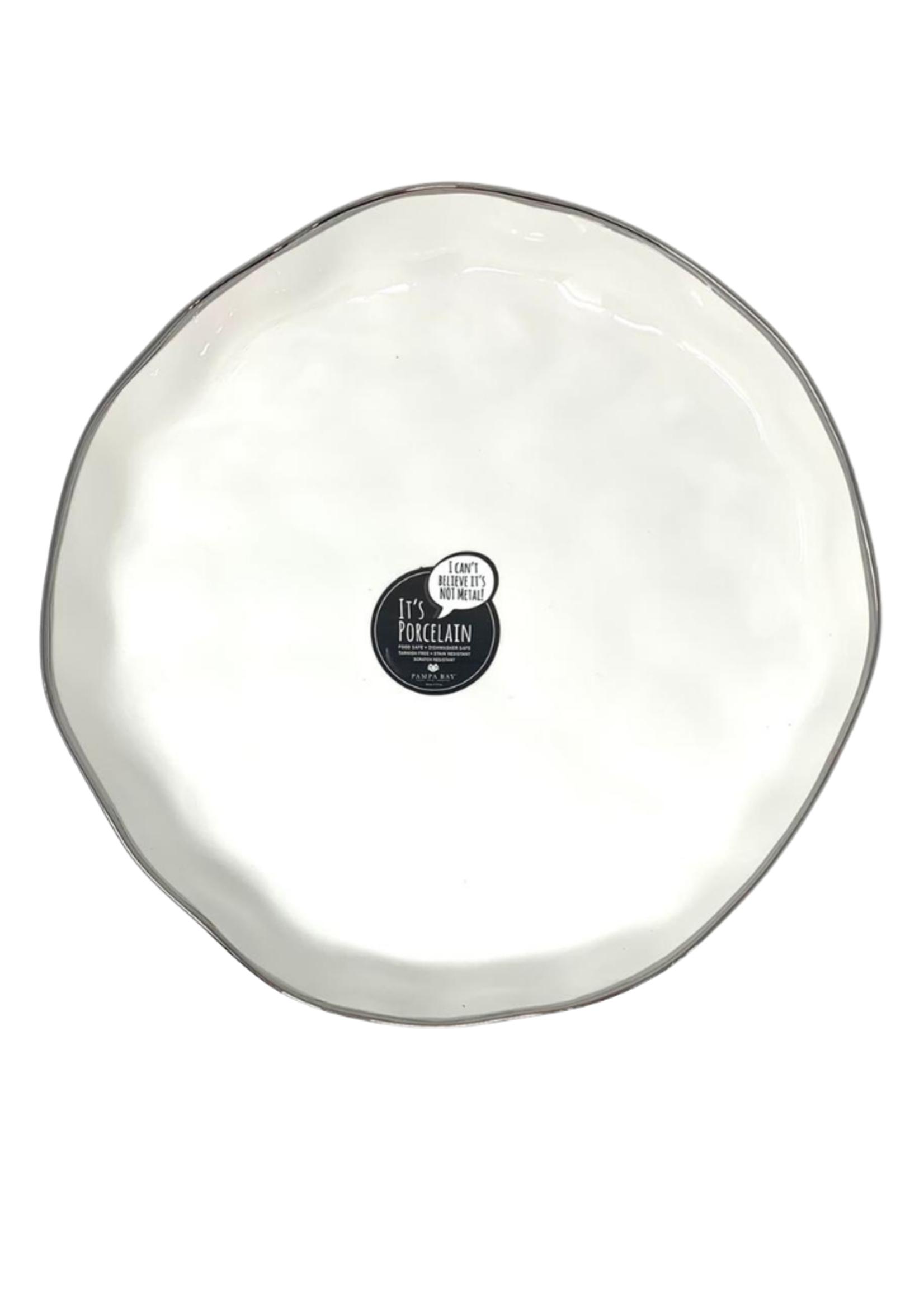 Extra Large White Round Porcelain Platter